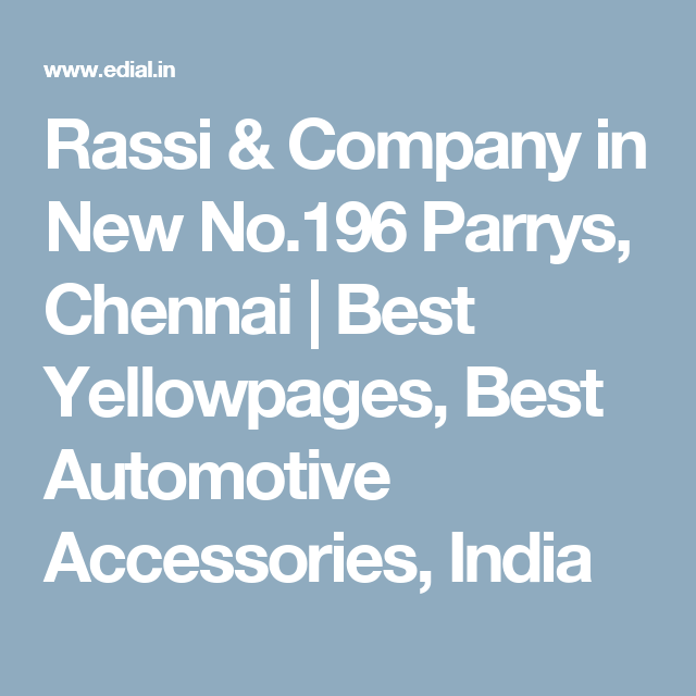 Rassi & Company in New No 196 Parrys, Chennai | Best Yellowpages
