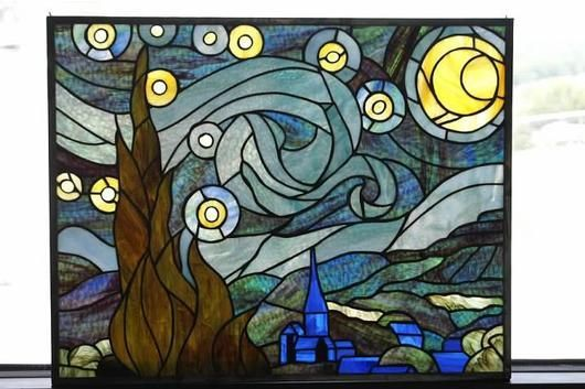 stained glass starry night - Google Search