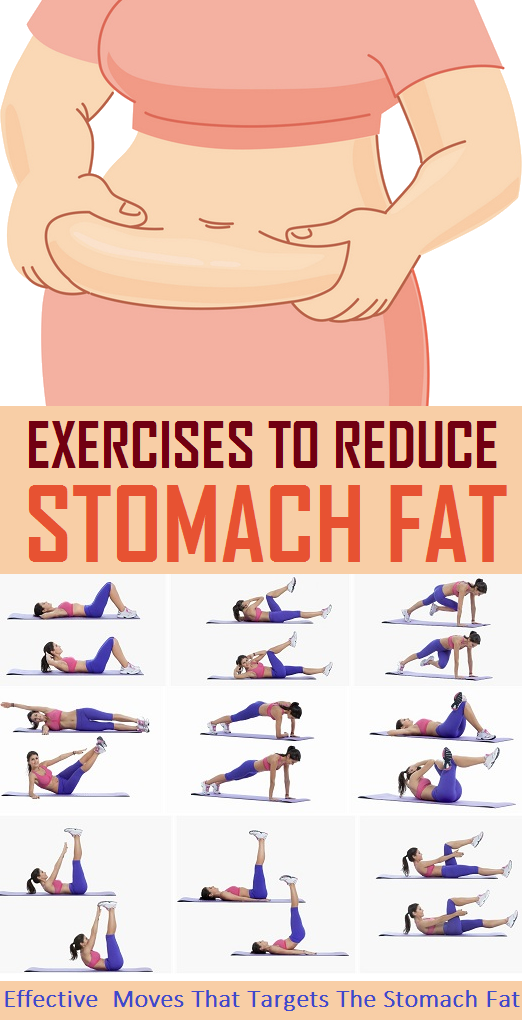 8 Simple Exercise to Reduce Stomach Fat | Weight Loss ...