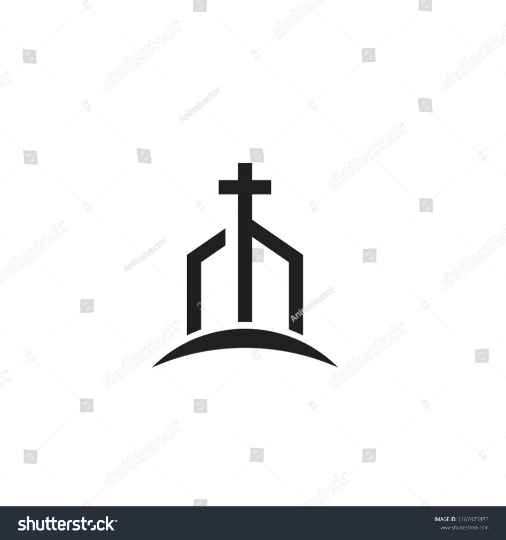 Church Minimal Logo Icon Designs Stock Vector Royalty Free 1167475483 Church Logo Icon Design Logo Icons