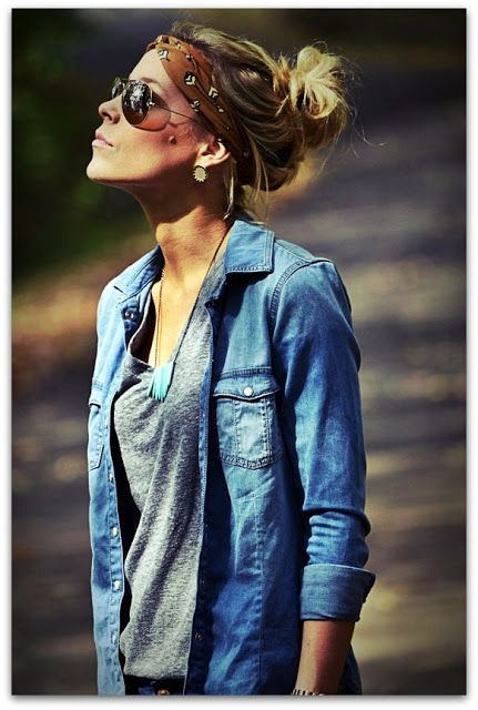 The humble denim shirt. Ranks up there along side the little black dress in terms of importance for me!