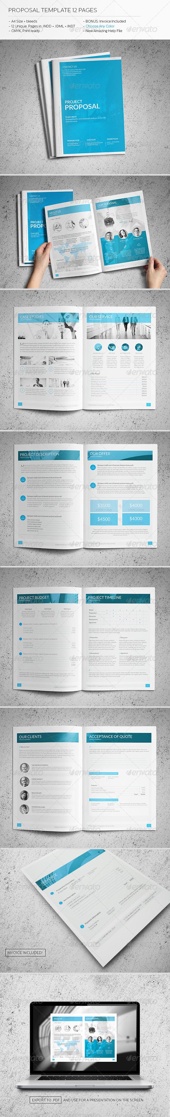 Proposal Template Proposal Templates Proposal Design Invoice Design