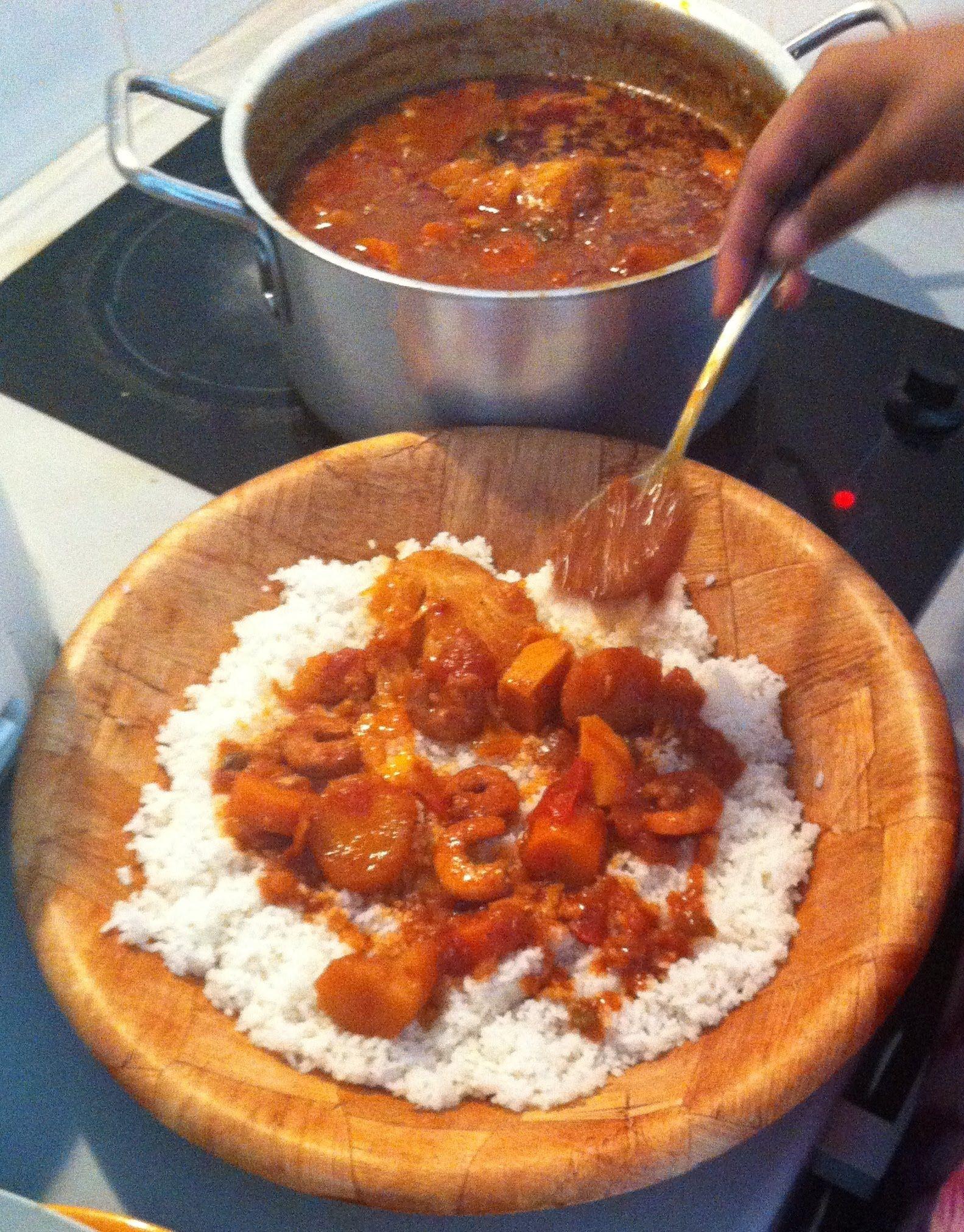 Thiou aux crevettes recette s n galaise recettes s n galaises pinterest recette - Recette de cuisine senegalaise ...