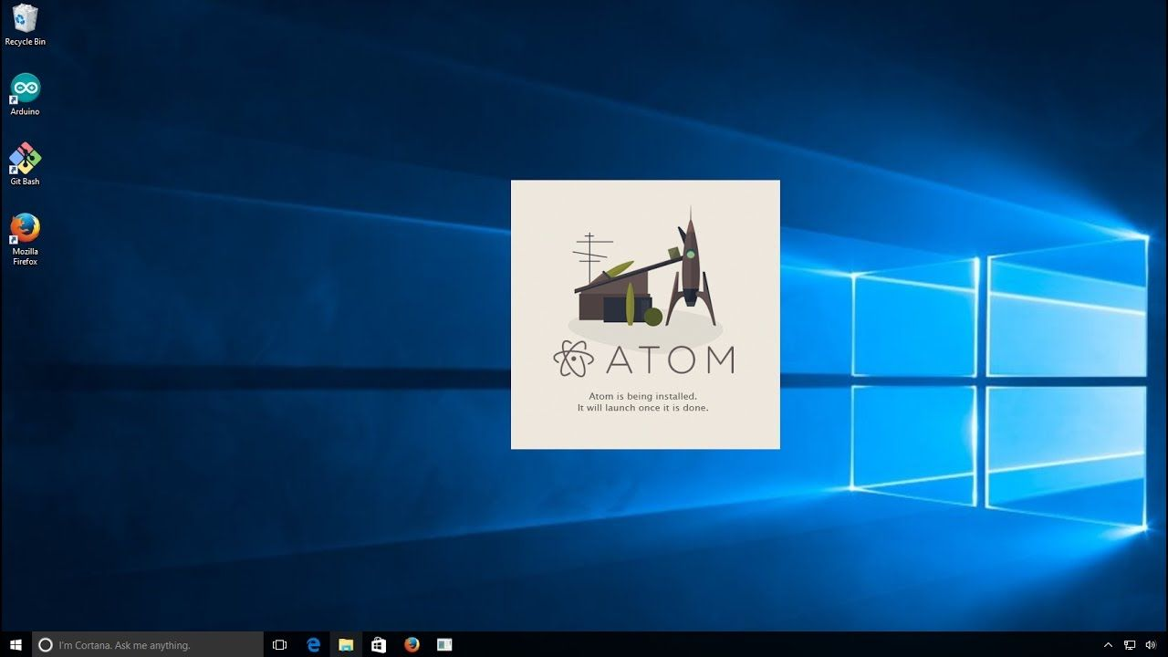 How to install Atom editor in on Windows 10
