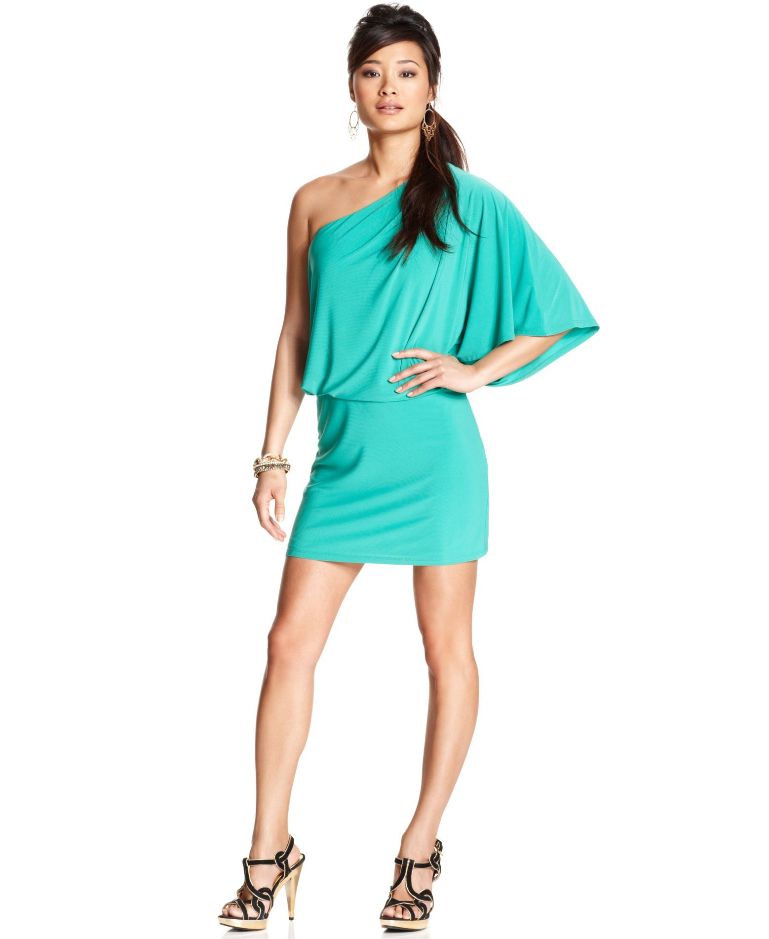 Jessica Simpson One-Shoulder Party Dress | Products | Pinterest ...