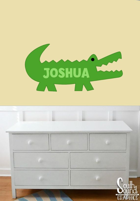 Fabric Wall Decal for Boys Nursery and Kids Rooms - Alligator Room ...