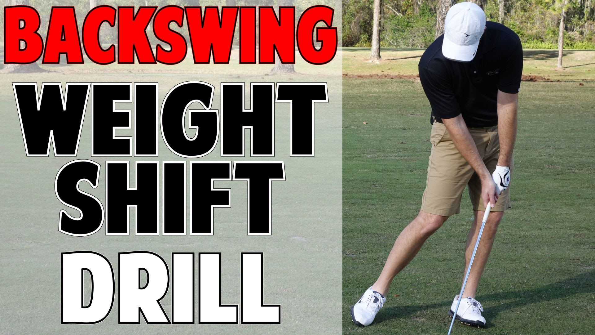 Golf backswing weight shift drill step right step