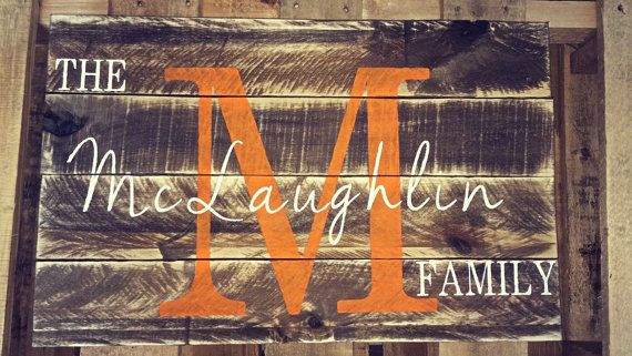 Custom family pallet sign. Pallet decor family by TheRusticWoods