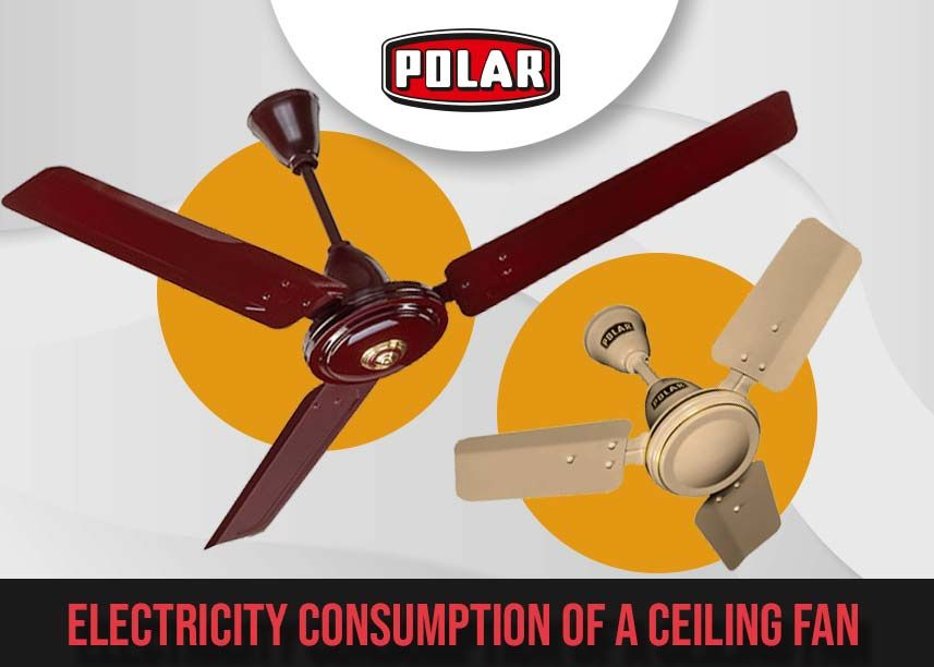 know about the electricity consumption of a ceiling fan hunter douglas fans with lights