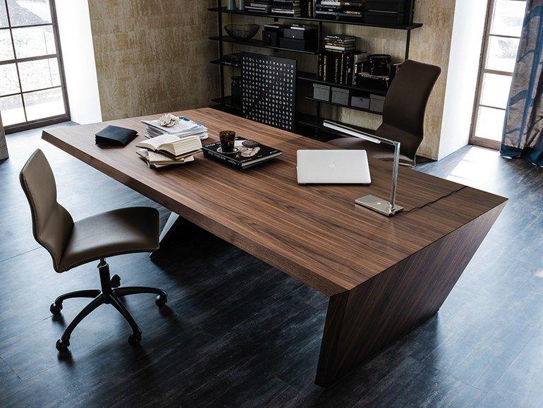 Schreibtisch Aus Holz Mit Schubladen NASDAQ By Cattelan Italia Design Paolo  Cattelan