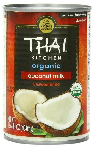 Thai Kitchen Organic Coconut Milk Unsweetened , 13.66-Ounce (Pack of 6) by Thai Kitchen, http://www.amazon.com/dp/B003VYIZT0/ref=cm_sw_r_pi_dp_1AIpsb0AXRTD8