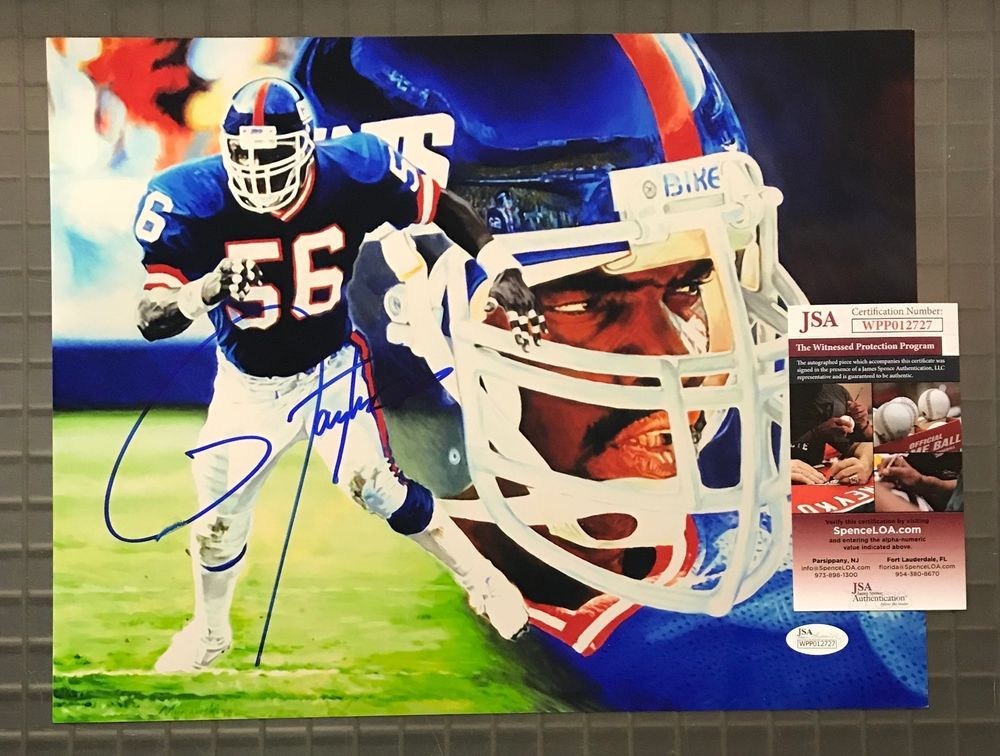 2db45d1ac Lawrence Taylor Signed 11x14 Photo Autographed AUTO JSA WITNESSED COA  Giants HOF  Football