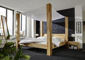 Lit à baldaquin en bois massif Hercul | ciel de lit | Pinterest ...