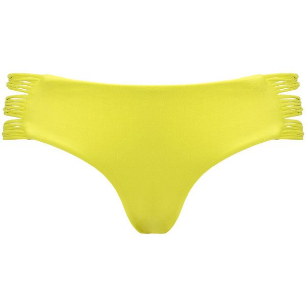 Mikoh Plumeria Velzyland Bottoms ($53) ❤ liked on Polyvore featuring swimwear, bikinis, bikini bottoms, tankini tops, string bikini bottoms, seamless bikini, swimsuit tops and mikoh bikini top