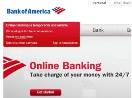 Bank Of America S Online Banking Crashes Online Banking America