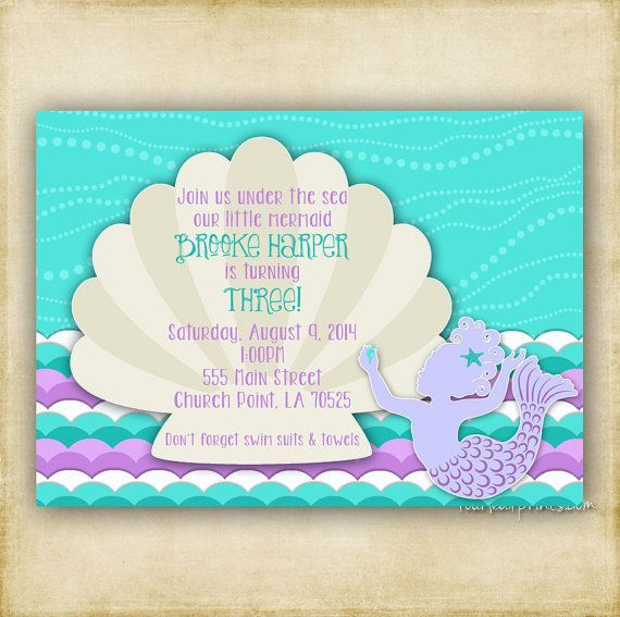 Beautiful Find This Pin And More On Do It Yourself By Andressas2marco. See More.  Vintage Aqua Mermaid Baby Shower Invitation ...