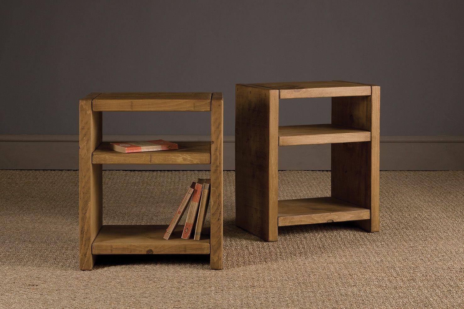 Beau Plank Bookshelf Side Table