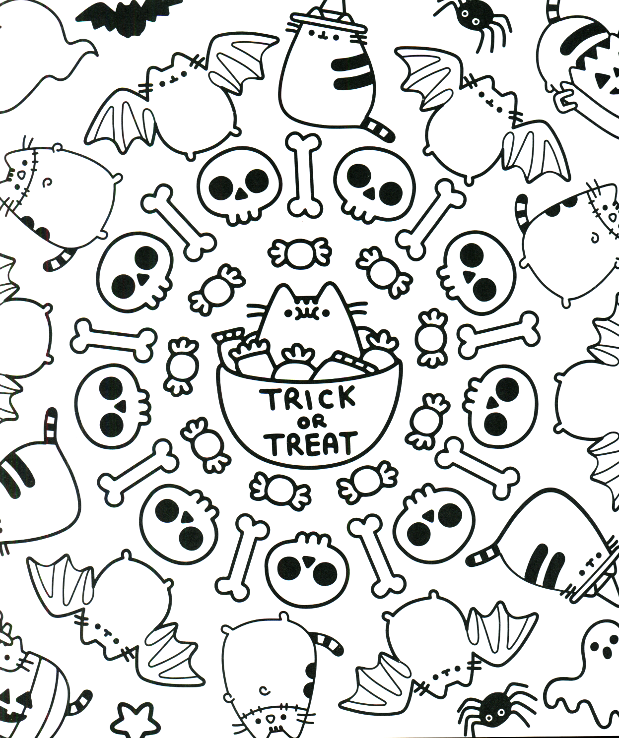 Pusheen Coloring Book Pusheen Pusheen The Cat Pusheen Coloring Pages Halloween Coloring Pages Coloring Pages