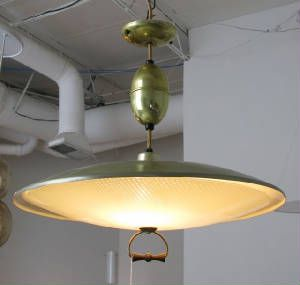Atomic Lampolier Pendant With Extendable Retractable Cord Housed
