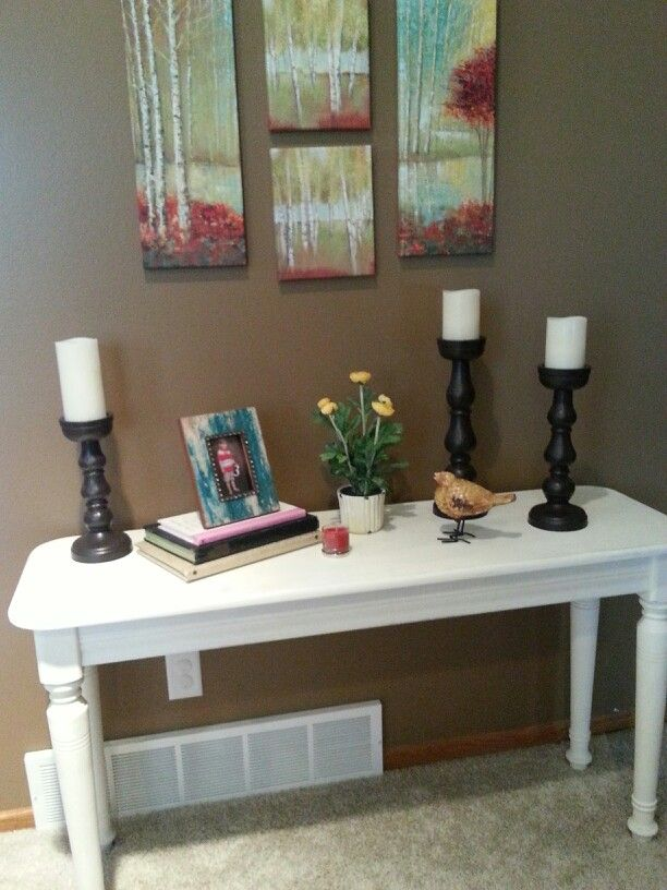 Pin By Tracy Egeland On My Home And Crafty Creations Painted Table Decor Home Decor