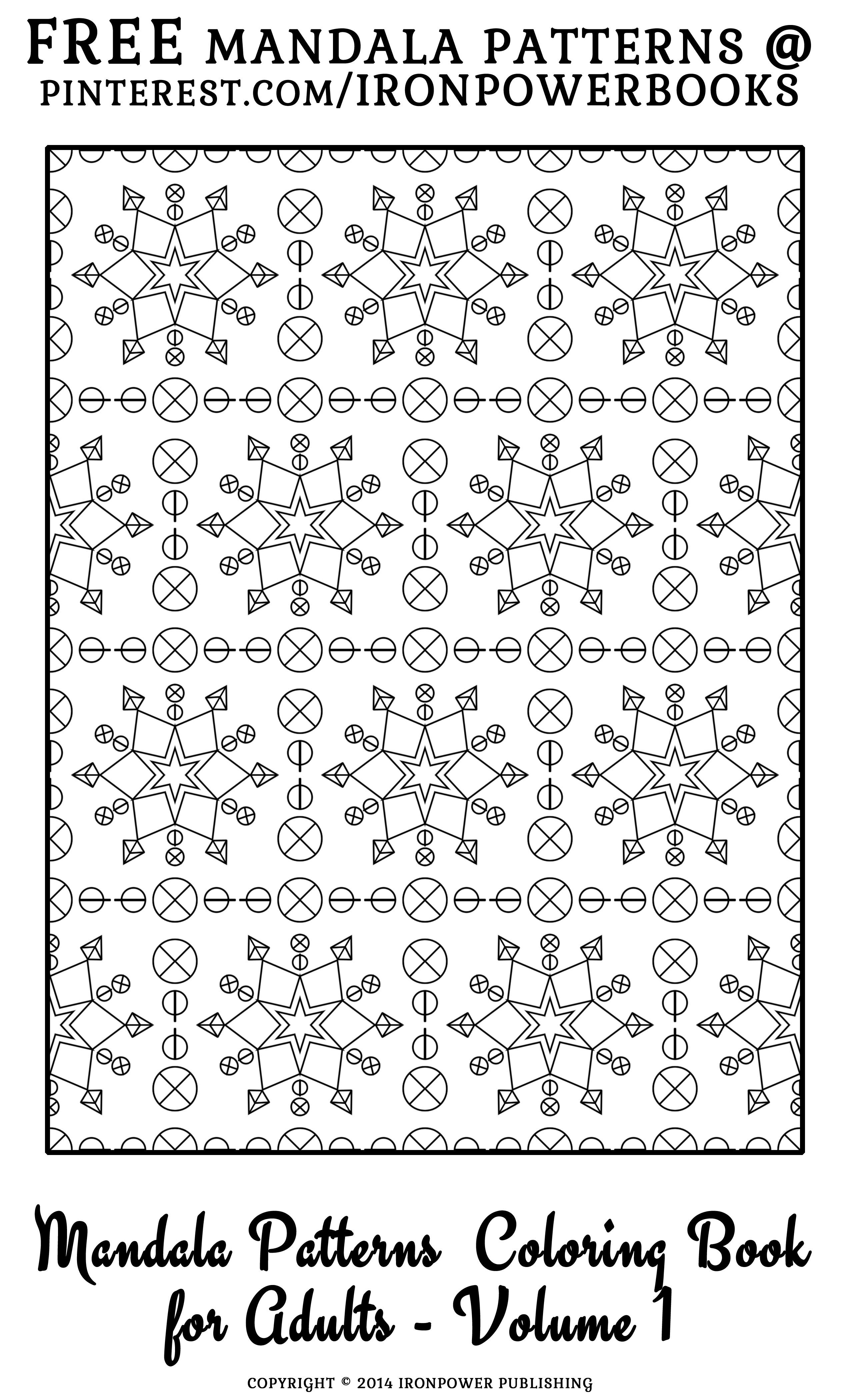 Pattern coloring pages for free ironpowerbooks please use freely