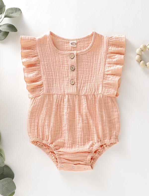 Summer Cute Newborn Baby Girls Clothes Sling Cotton Jumpsuit Bodysuit One-pieces