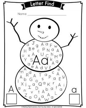 letter find winter snowman theme teachers pay teachers my store letter find lettering. Black Bedroom Furniture Sets. Home Design Ideas
