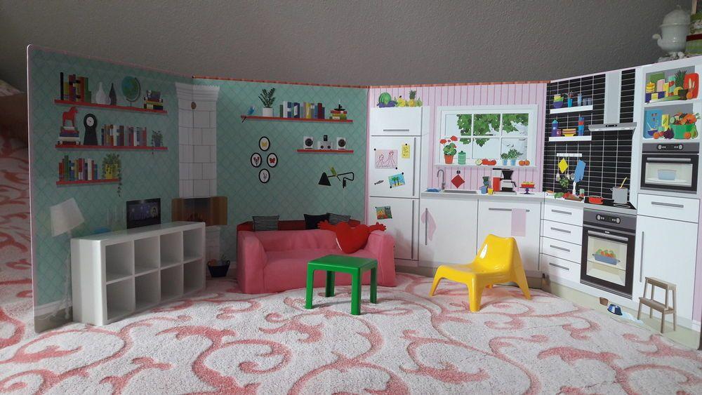 puppenm bel von ikea hintergrundwand ikea mini m bel. Black Bedroom Furniture Sets. Home Design Ideas