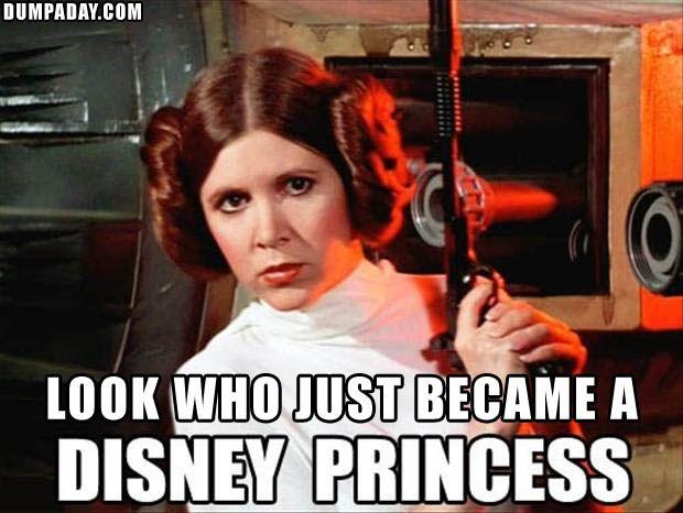 Pin By Kat Lee On Star Wars Funny Disney Memes Princess Leia Buns Disney Funny
