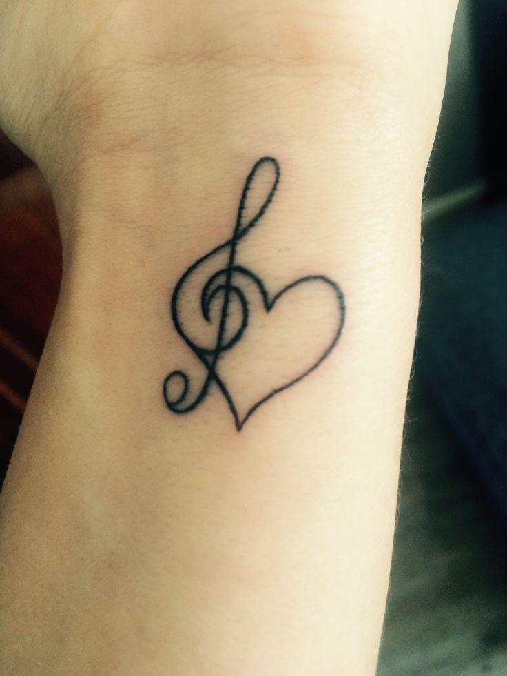 Photo of #heart #tattoo #music #smallTattoo #WristTattoo  – Tatuaże –