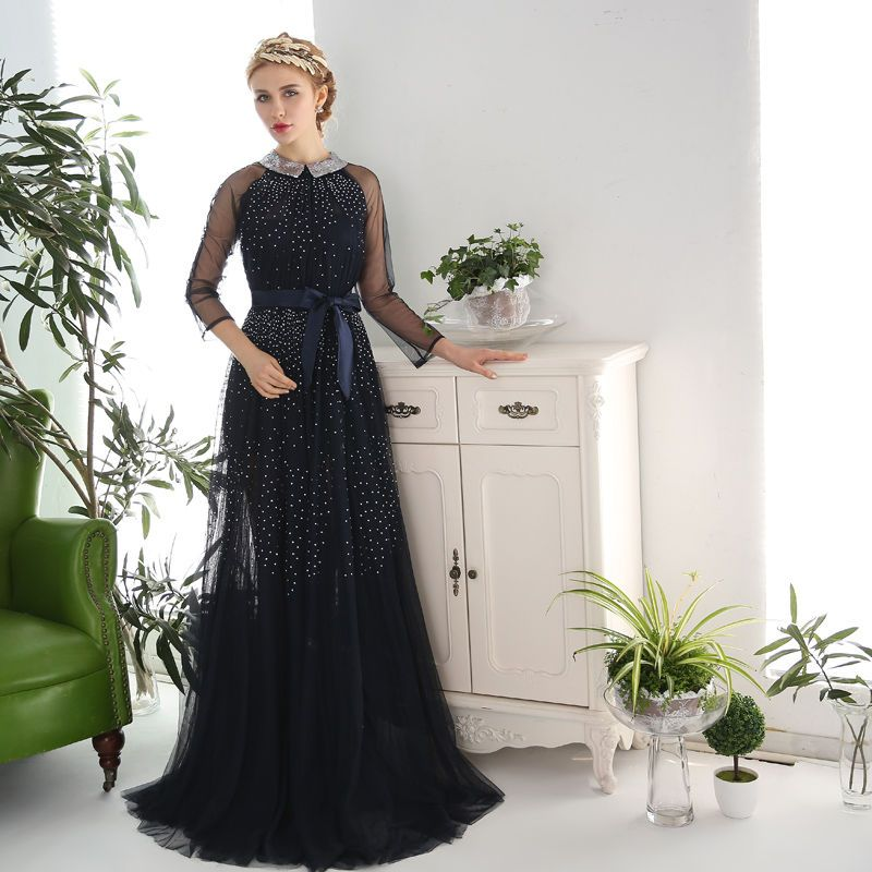 Coeur Wedding Sequined Collar A-Line Evening Gown   YESSTYLE