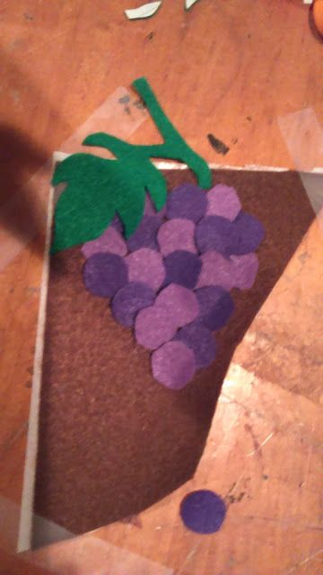 how to make felt grapes, First Communion Banner no sew felt