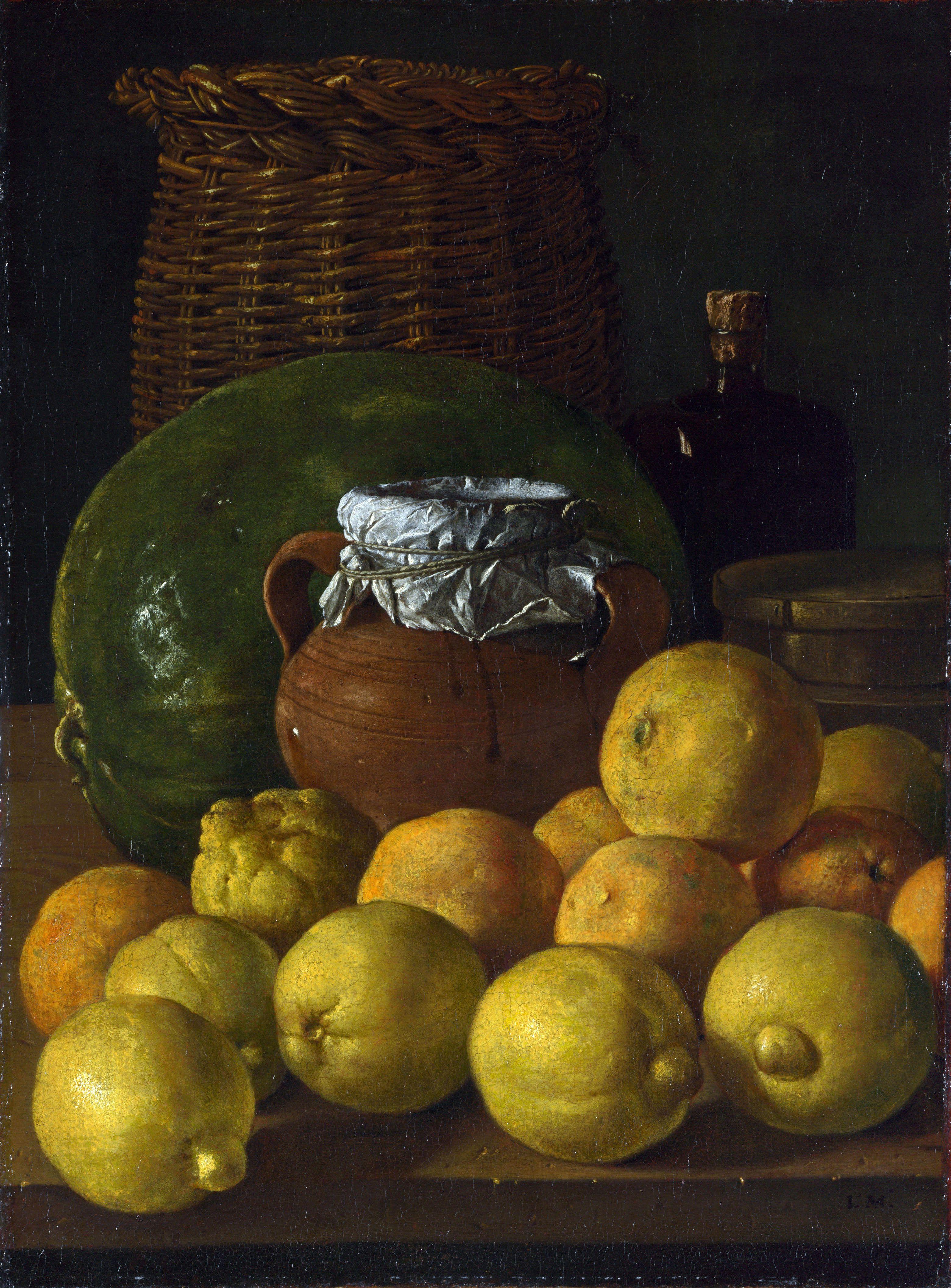 Luis Melendez Still Life with Lemons and Oranges Spanish