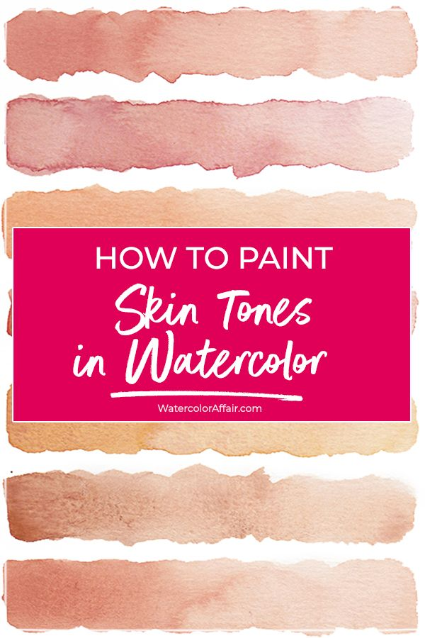 Watercolor Skin Tone Tutorial How To Mix Realistic Flesh Colors