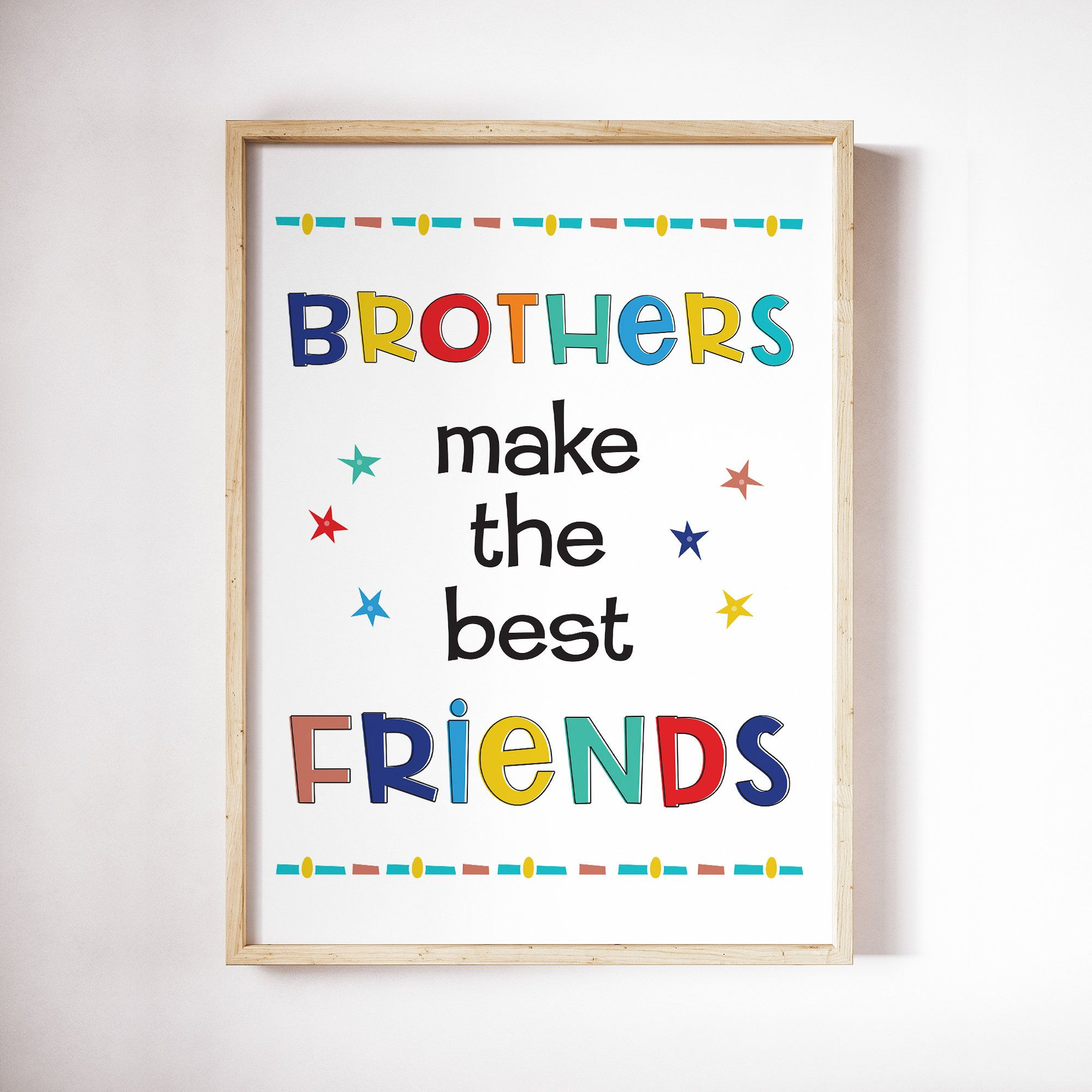 Brothers Make The Best Friends Printable Art Navy Blue Etsy In 2020 Nursery Prints Boy Sisters Wall Art Nursery Decor Twins