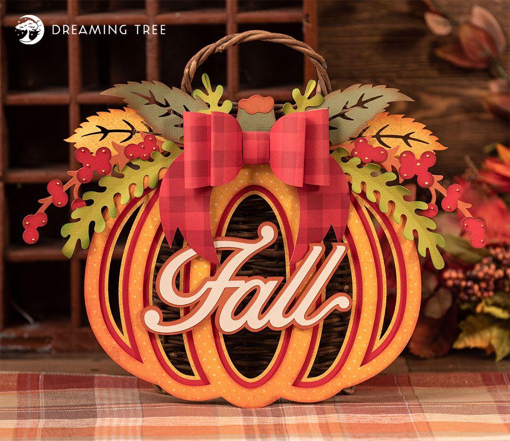 Pumpkin Wreath SVG in 2020 Cricut crafts, Pumpkin wreath