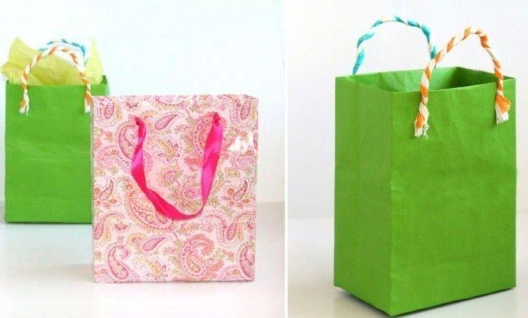C mo hacer bolsas de regalo con papel reciclado - Bolsa de papel para regalo ...