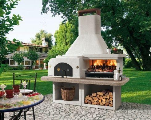 Outdoor Küche Mit Steinofen : Pizza oven outdoor kitchen ofen gartengrill und