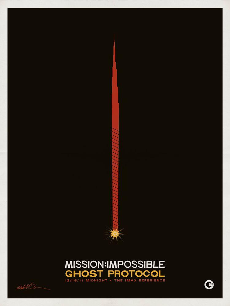 Mission: Impossible - Ghost Protocol (2011) - Minimal Movie Poster by Matt Owen ~ #mattowen #minimalmovieposters #alternativemovieposters