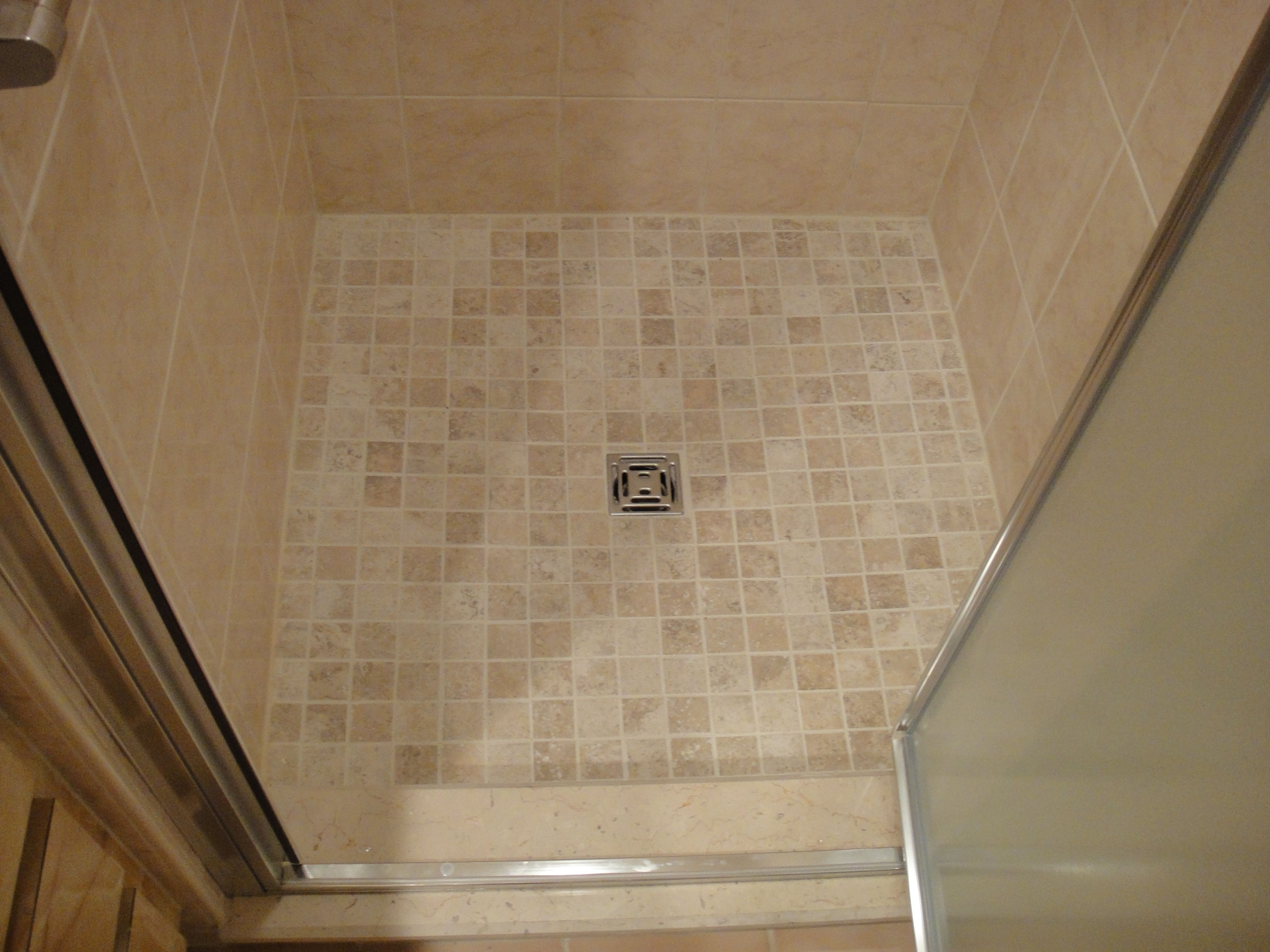 Completed Shower Stall Using The Wedi Fundo Shower System Shower Systems Shower Stall Custom Shower