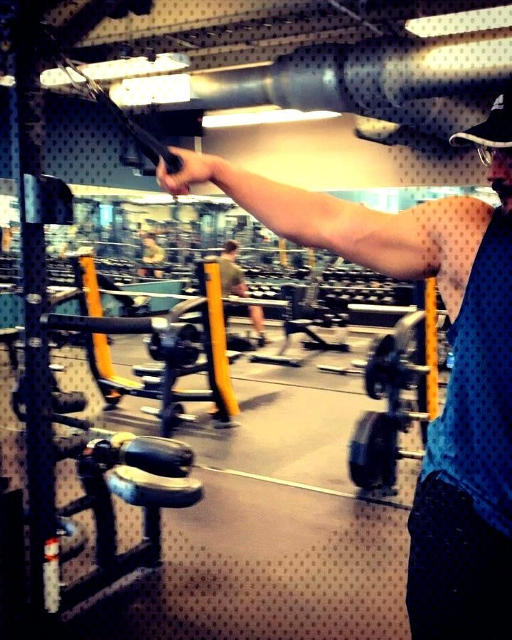 Superset with biceps. . . .