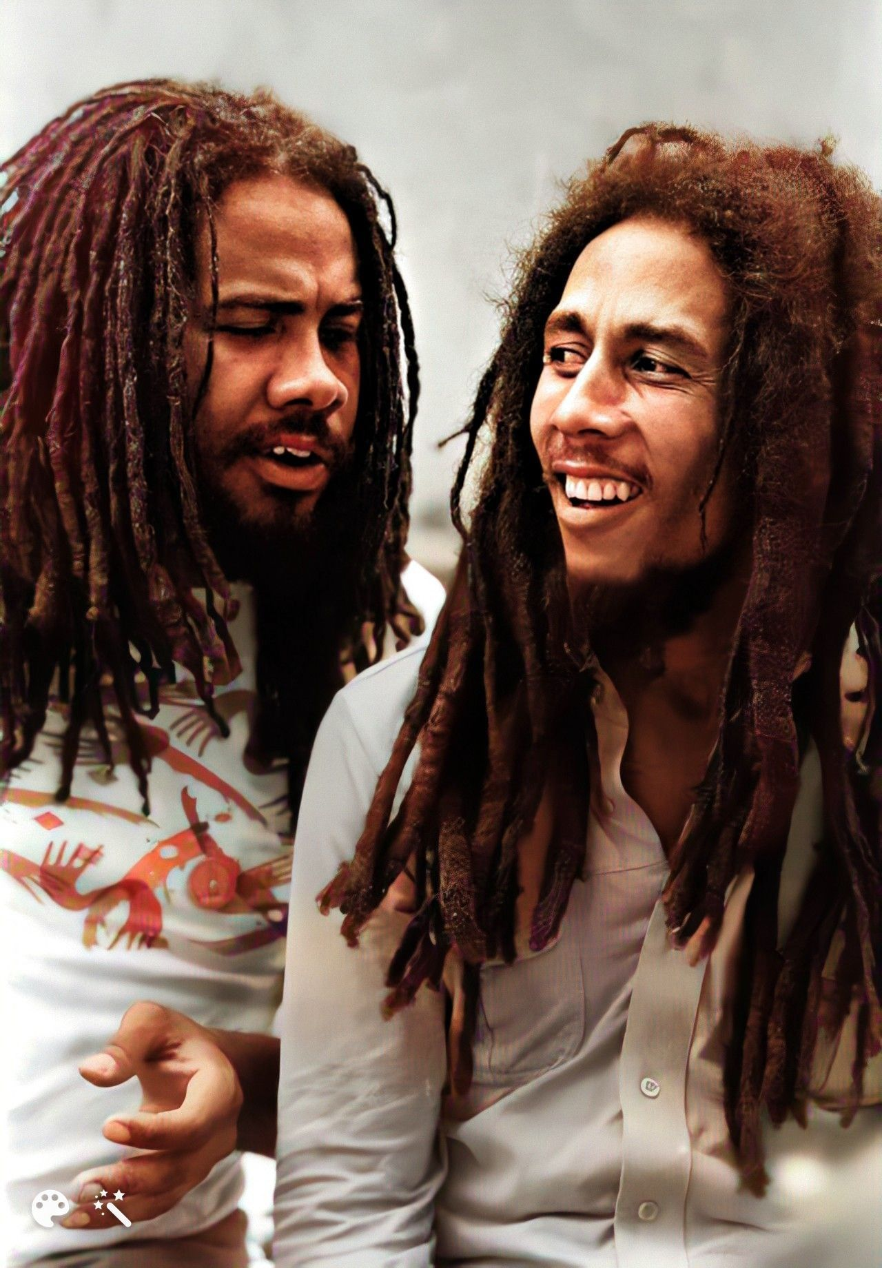1980 Jamaica S Top Two Artists Jacob Miller Of Inner Circle Bob Marley Of The Wailers Bob Marley Bob Marley Pictures Bob Marley Legend