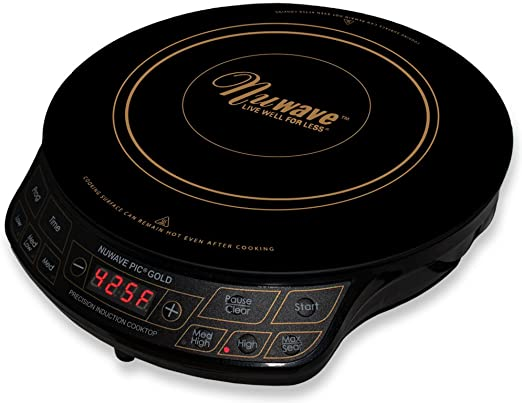 Amazon Com Nuwave Pic Gold 1500w Portable Induction Cooktop Countertop Burner Gold Kitchen Dining In 2020 Induction Cooktop Nuwave Induction Cookware