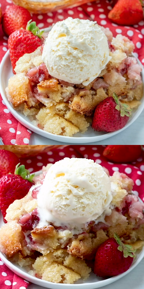 Strawberry Cobbler #dessertrecipes