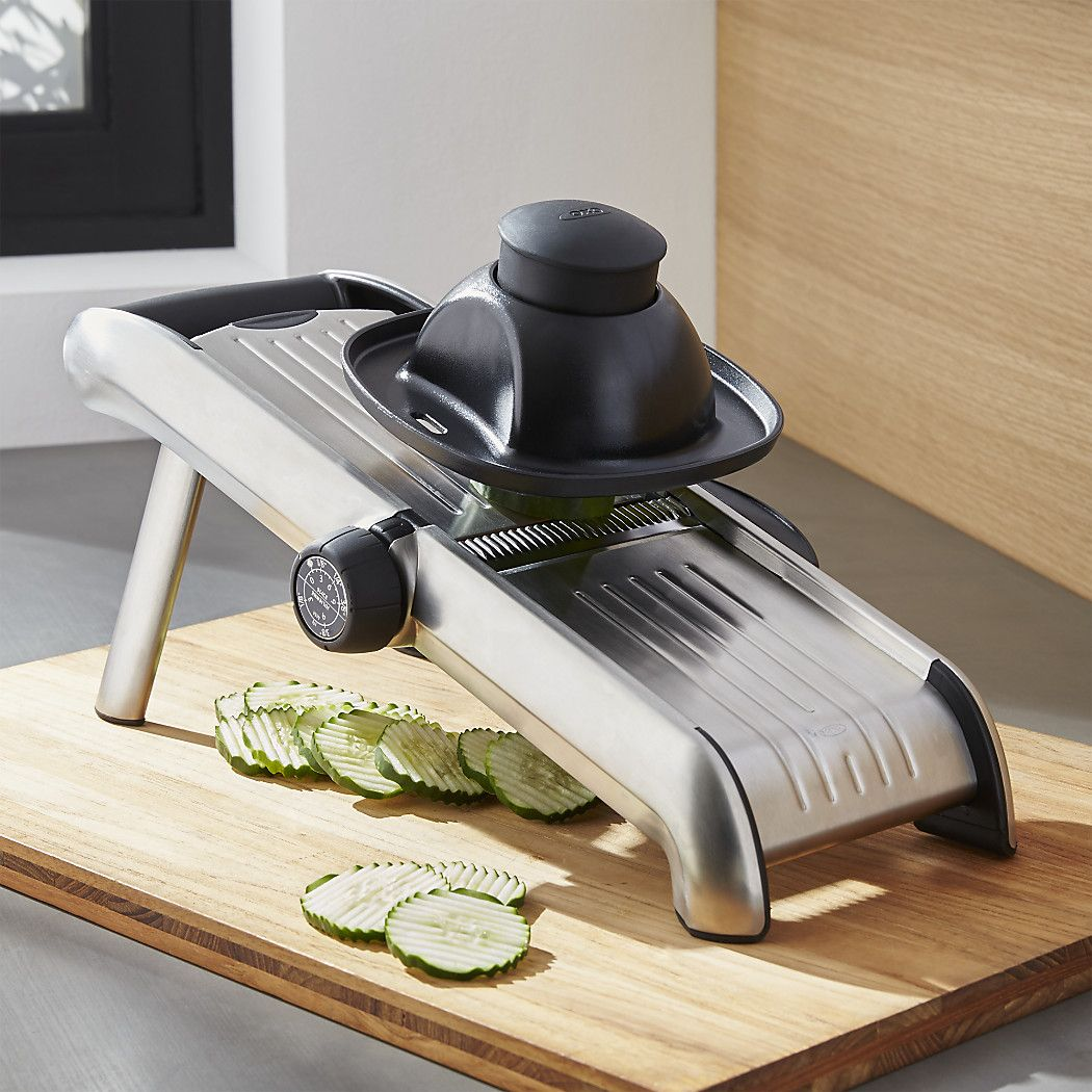 OXO Stainless Steel Mandoline + Reviews Crate and Barrel