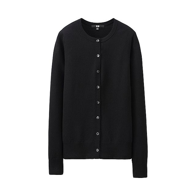 WOMEN Extra Fine Merino Crew Neck Cardigan - UNIQLO UK Online ...