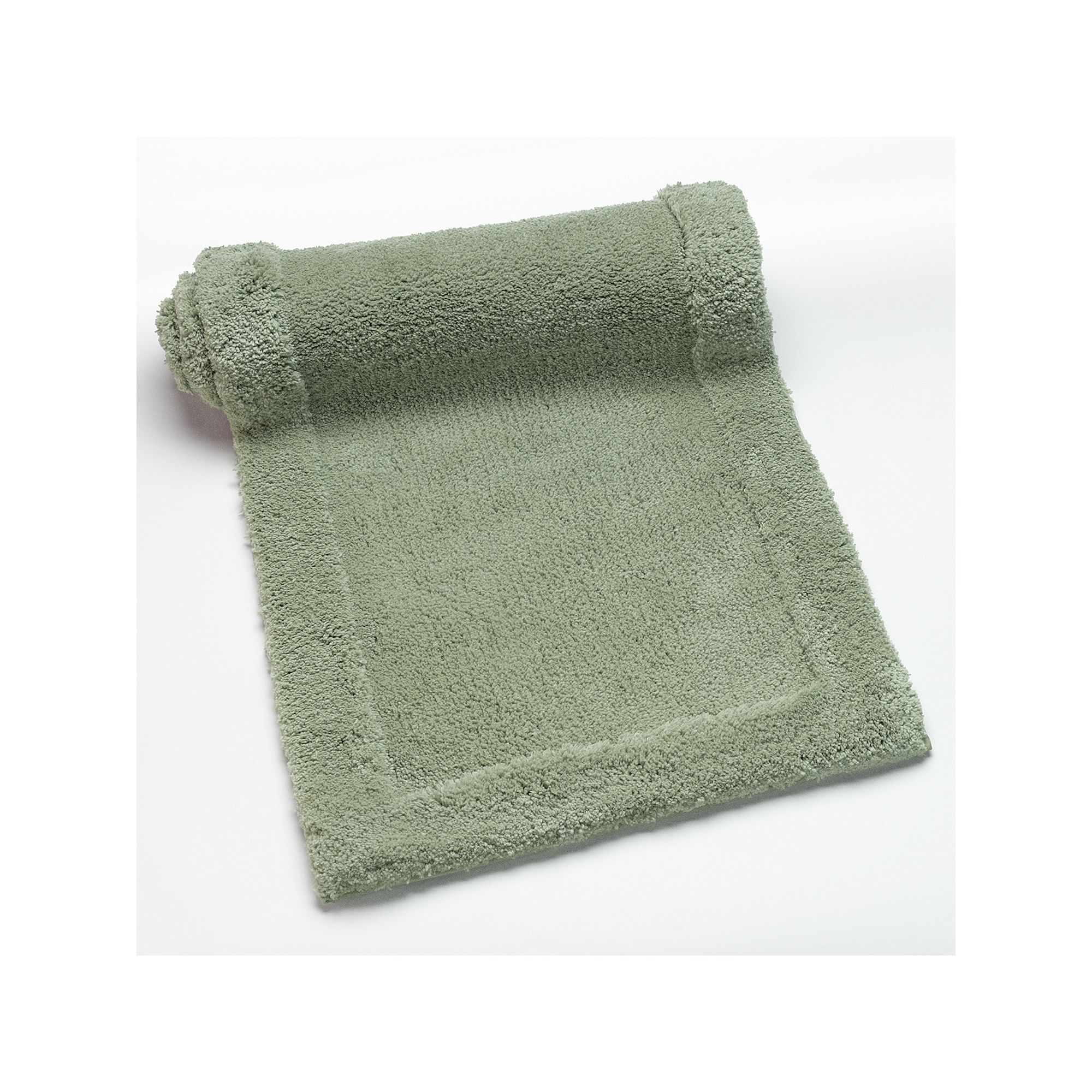 Plush Solid Bath Rug Runner 22 X 60 Green