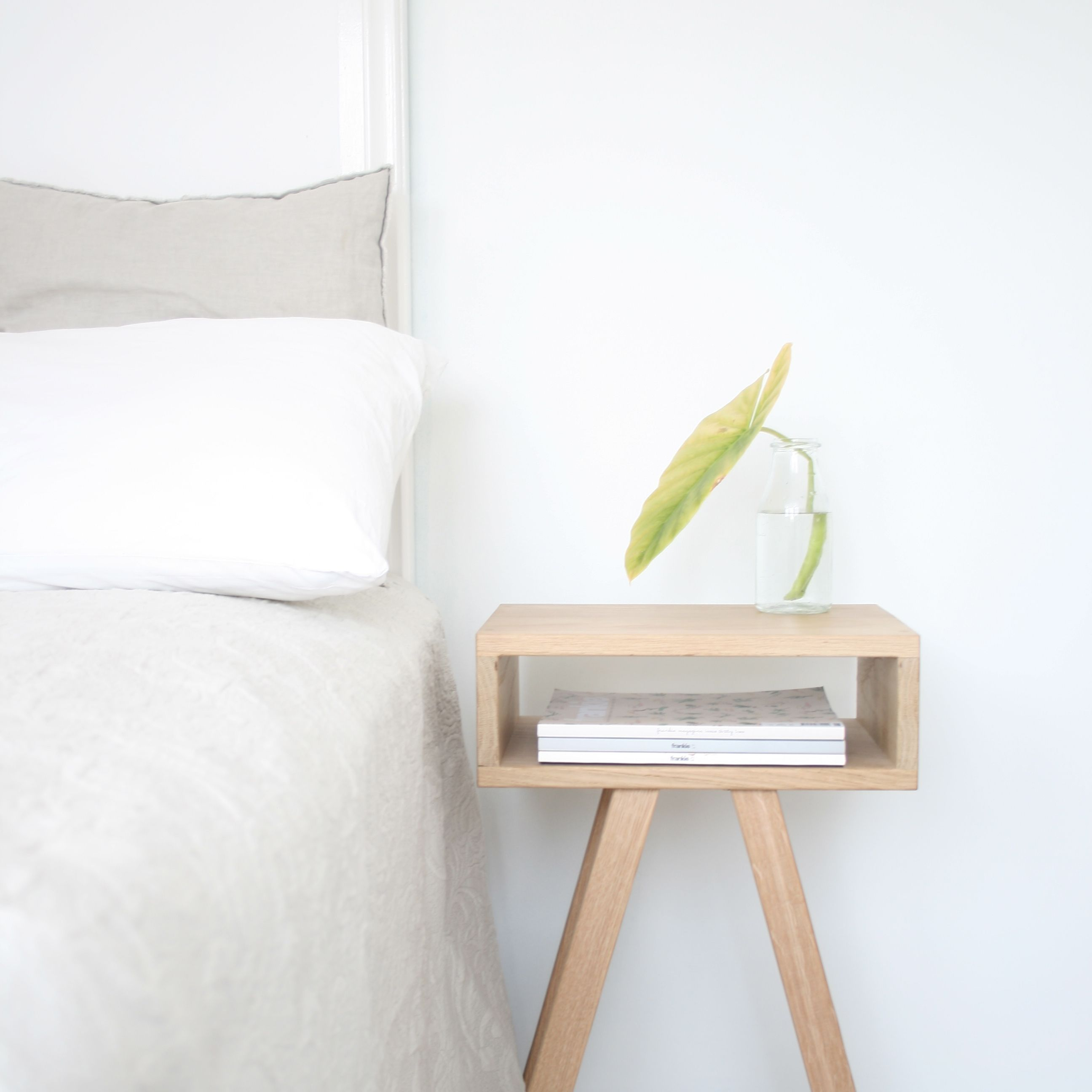 minimal bedroom perfection bedside table by milkcart com au