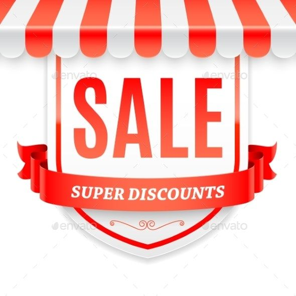 Sale Banner with Store Awning