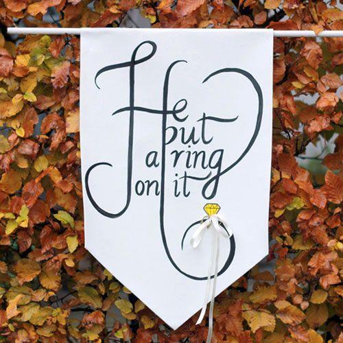 DIY Ring Bearer Banner On Etsy Weddings